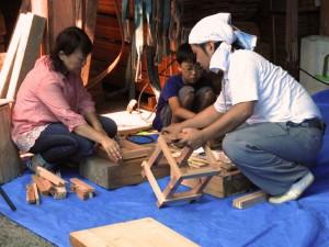 夏祭り・親子木工教室02