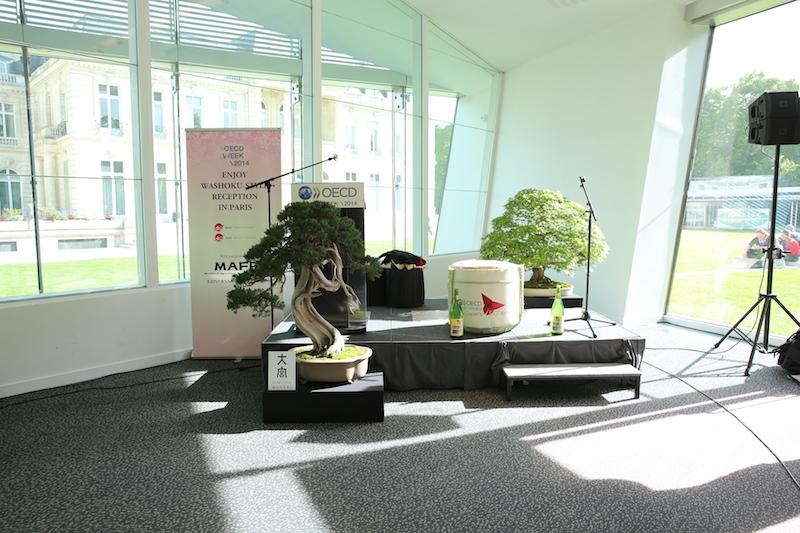 パリで開かれたOECDレセプションに大宮盆栽を展示しました!