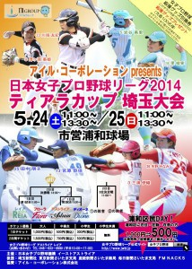 JWBL2014ティアラカップ埼玉大会のポスター写真
