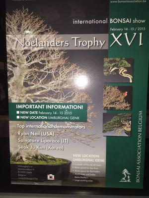 ベルギーの盆栽展Noelanders Trophyに大宮盆栽を出展