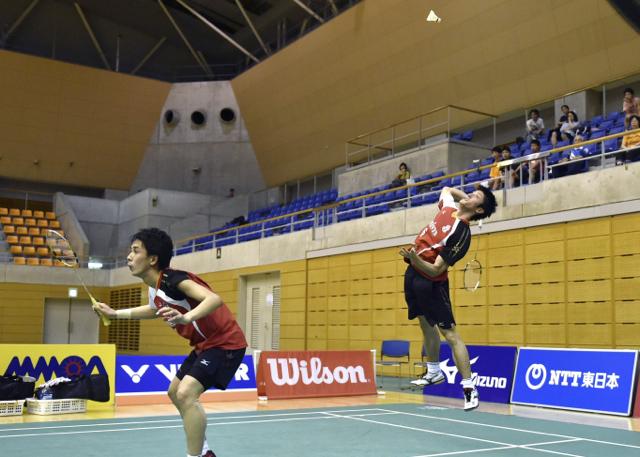 2014年大会男子ダブルスペア試合写真