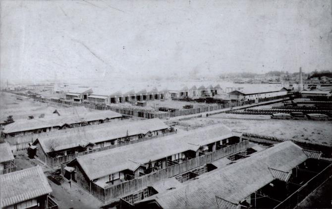 明治32年 大宮鉄道工場全景(さいたま市アーカイブスセンター)